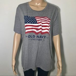Old Navy Relaxed USA Flag Tee